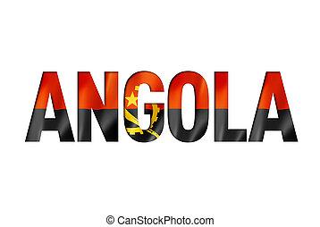 angolan flag text font. angola symbol background