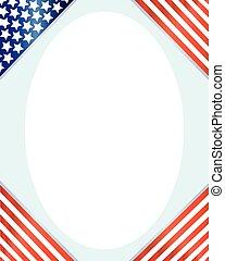 angoli, cornice, bandiera americana