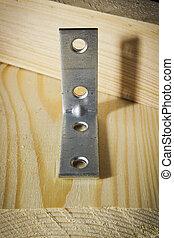 angoli, legno, metallo, assi, legatura