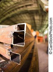 angoli, metallo arrugginito, fabbrica