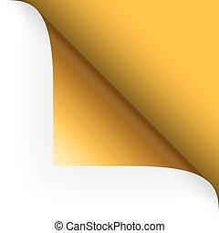 angolo, cima, carta, -, giallo