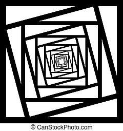 angolo, cornice, astratto, nero, prospettiva, fondo, ripetere, trasparente