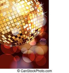 angolo, palla, discoteca