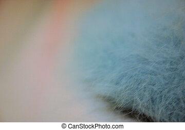 Angorra Fur - Blue bunny fur textile