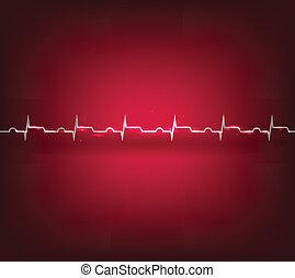 angrepp, hjärta, infarkt, kardiogram