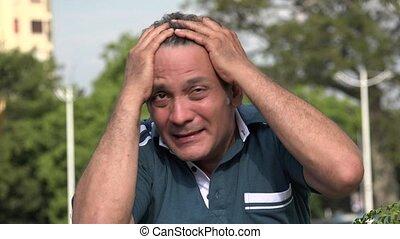 Angry Adult Hispanic Man