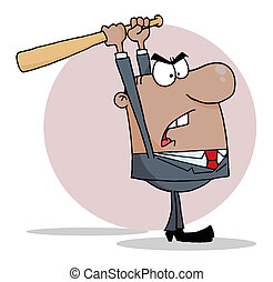 Angry African American Businessman - Hispanic Businessman ...