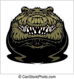 Angry Alligator Vector Mascot
