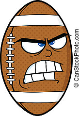 Angry American Football Ball