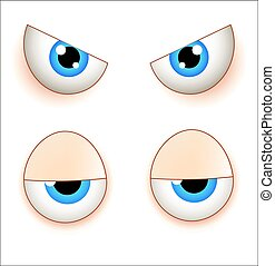 Angry and Lazy Eyes - Various Comic Character Eyes...