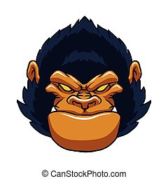angry ape gorilla face. vector illustration.