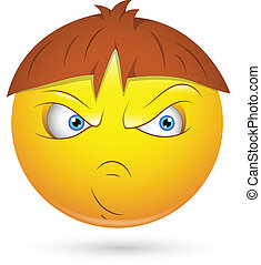 Angry Bad Kid Smiley Face