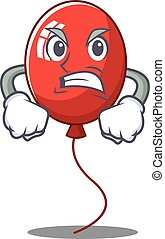 Angry balloon character cartoon style