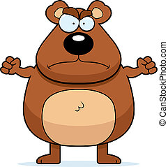 Angry Bear - A cartoon bear with an angry expression.
