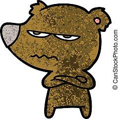 angry bear cartoon