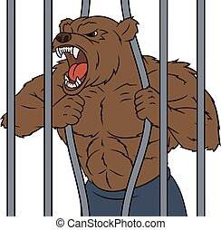 Angry bear in cage 2