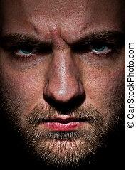Angry bearded man