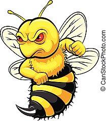 Angry bee mascot