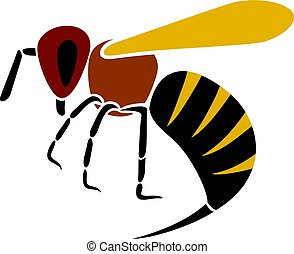 angry bee vector illustration