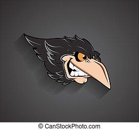 Angry Bird Face Vector