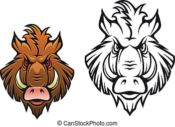Angry boar mascot