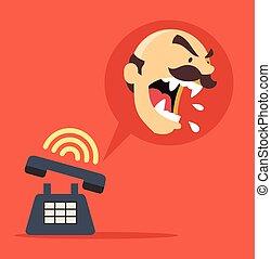 Angry boss call