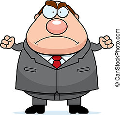 Angry Boss - A cartoon boss with an angry expression.
