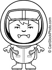 Angry Boy Astronaut