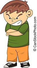 Angry boy cartoon