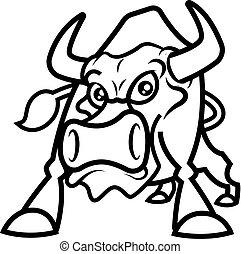 Angry Bull mascot character