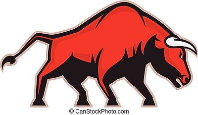 Angry bull mascot