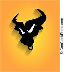 Angry Bull Mascot Face Vector