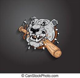 Angry Bulldog Mascot Vector