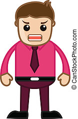 Angry Businessman - Cartoon