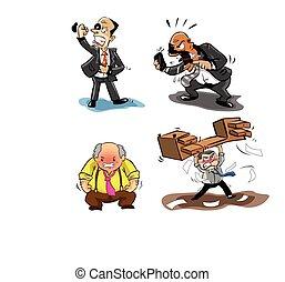 angry businessman illustration