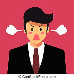 Angry businessman vector illustration