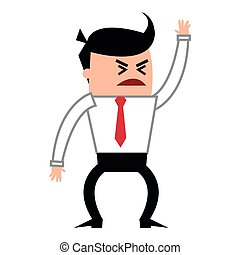 angry businessman yelling icon