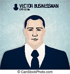 Angry businessmand avatar, businessman icon, business portrait, character