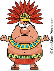 Angry Cartoon Aztec King