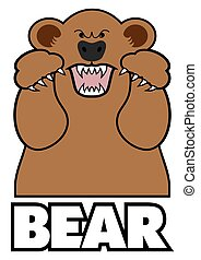 Angry Cartoon Bear - Angry cartoon bear is in attack mode