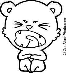 angry cartoon bear