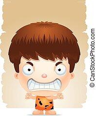 Angry Cartoon Boy Caveman