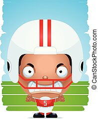 Angry Cartoon Boy Football Player