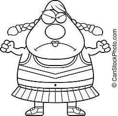 Angry Cartoon Cheerleader