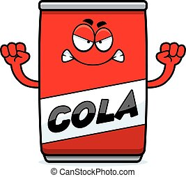 Angry Cartoon Cola Can