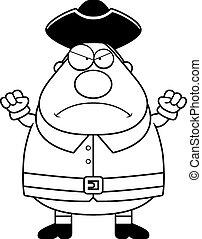 Angry Cartoon Colonial Man