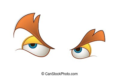 Angry Cartoon Eyes