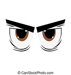 angry cartoon eyes icon