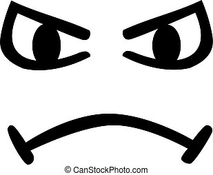 Angry cartoon face