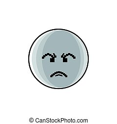 Angry Cartoon Face Negative People Emotion Icon